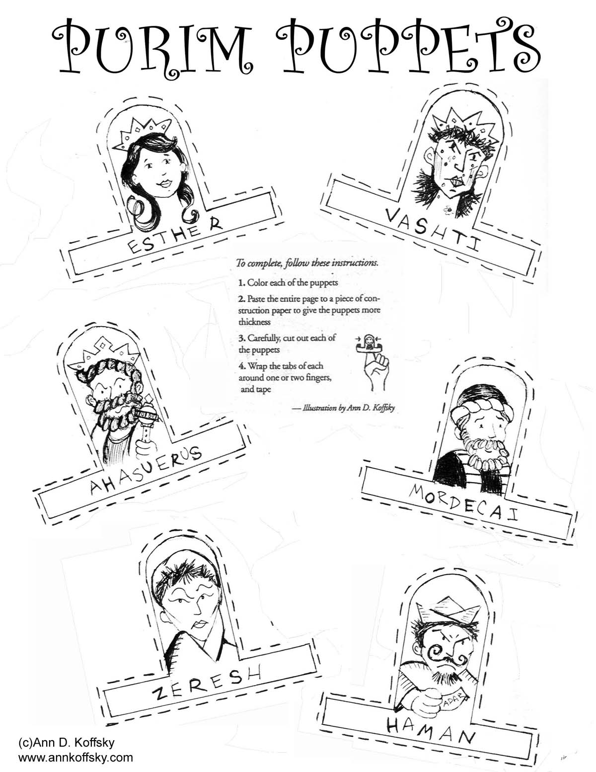 New Purim Coloring Page Purim Coloring Pages