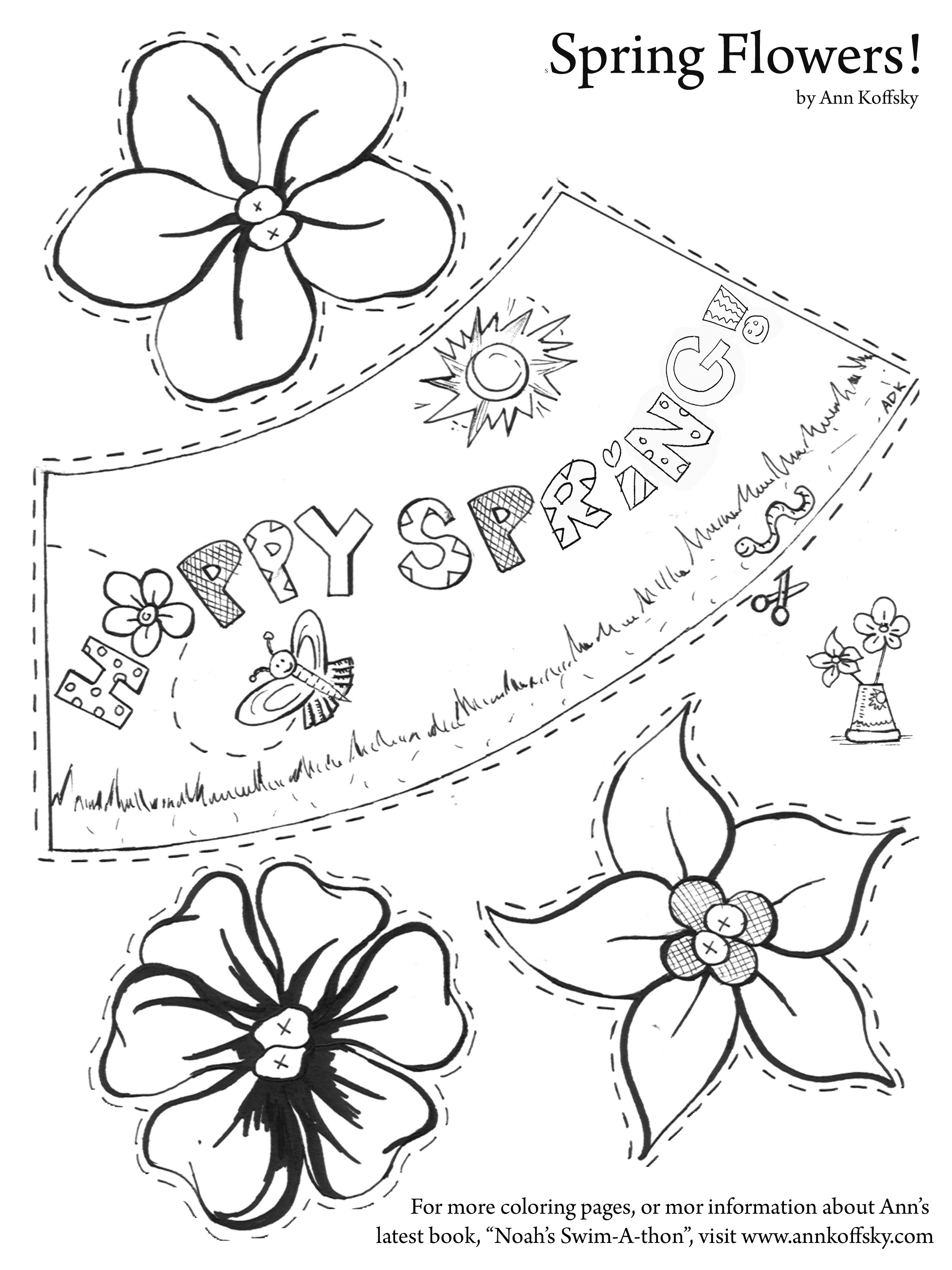 happy spring activity