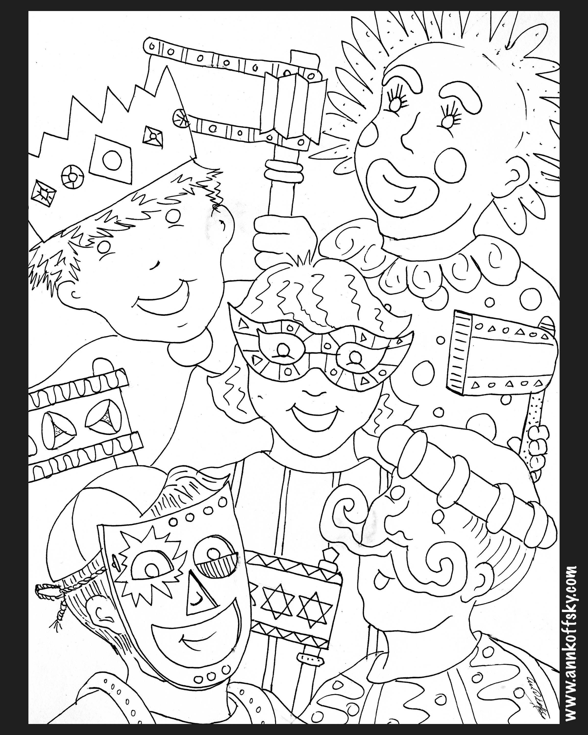 Purim Coloring Page Purim Coloring Pages