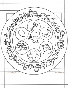 seder coloring pages - passover coloring page