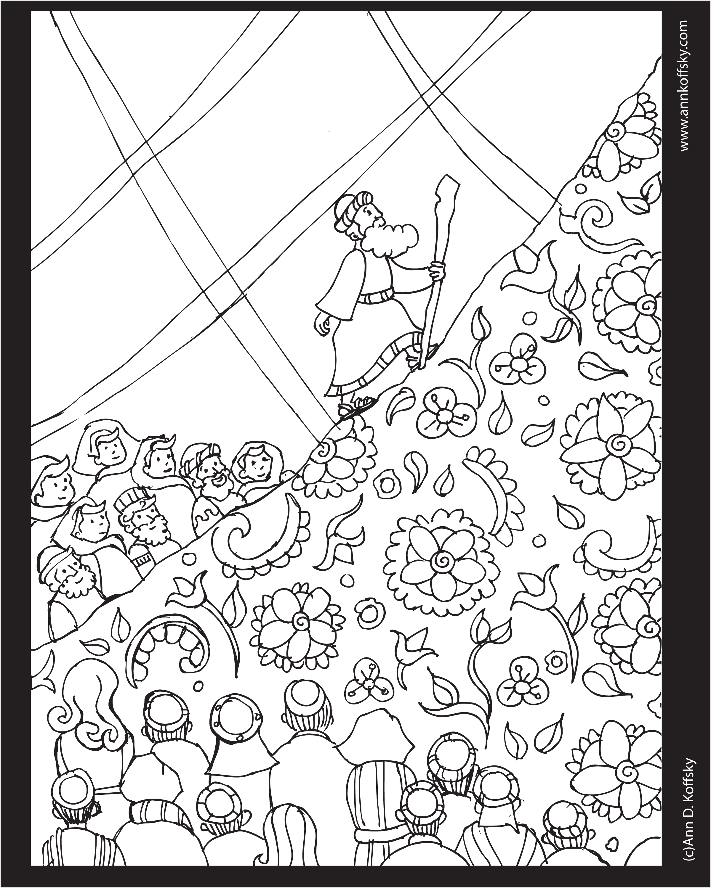 ShavuotJewish Holiday Coloring Page