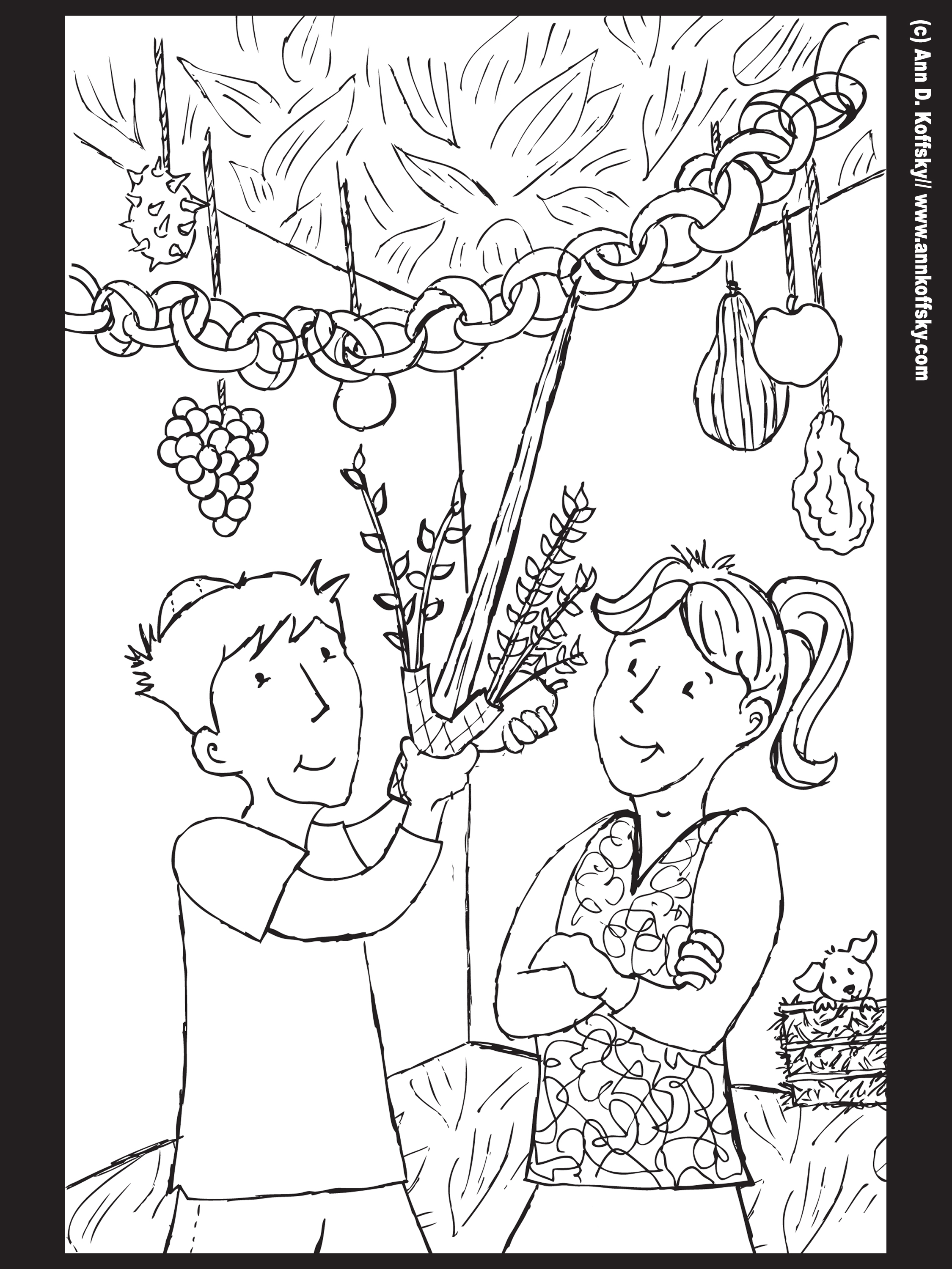 Succot Coloring Page
