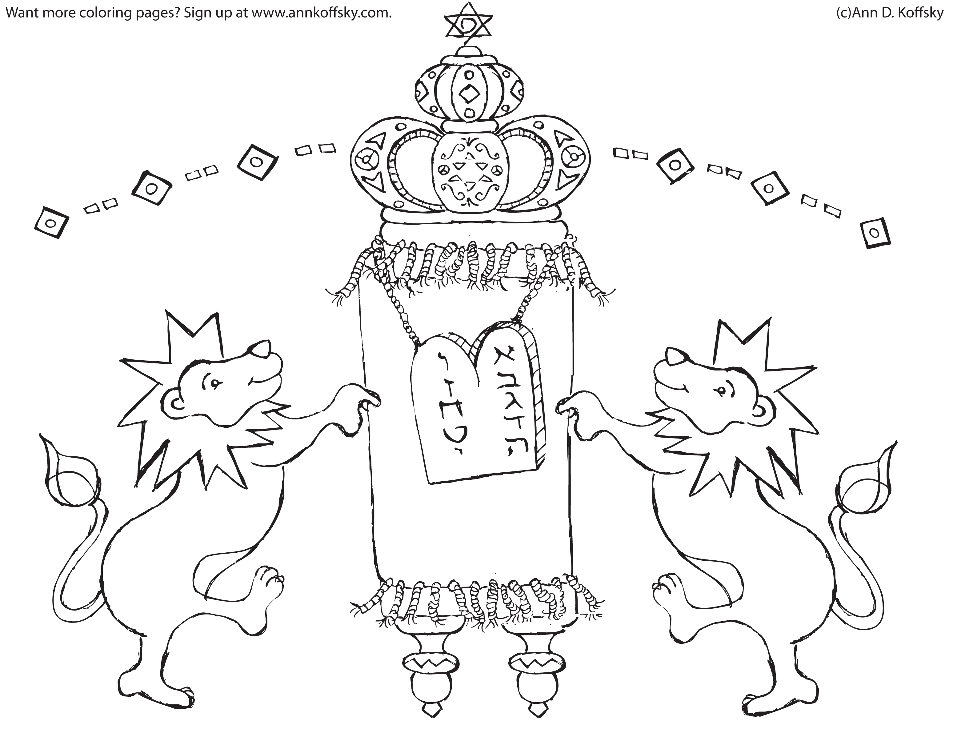 torah u0026 lion coloring