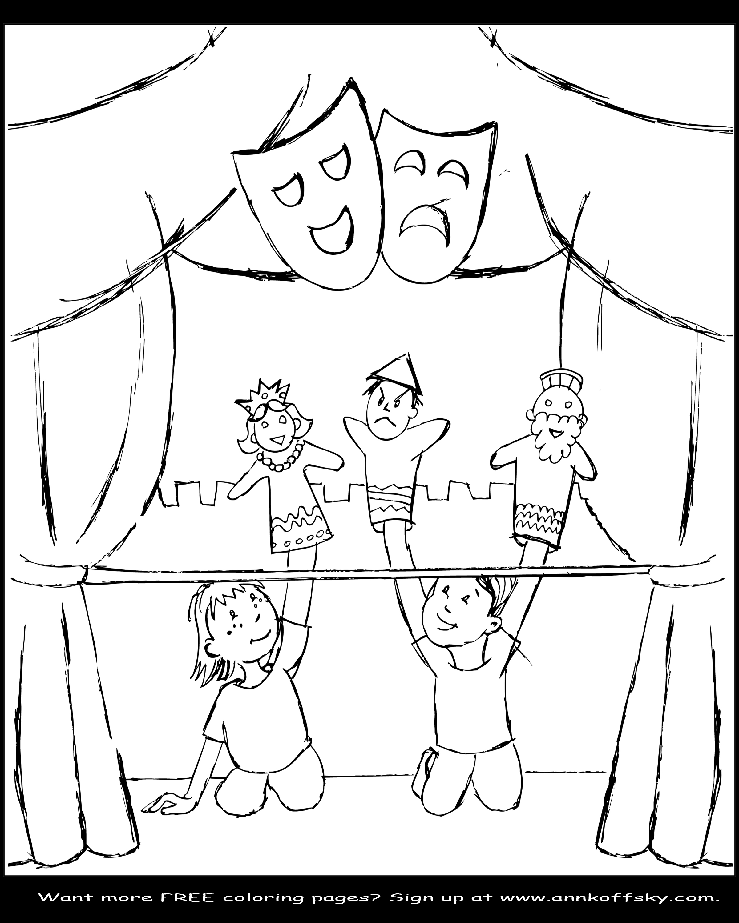 puppets coloring pages - photo#33