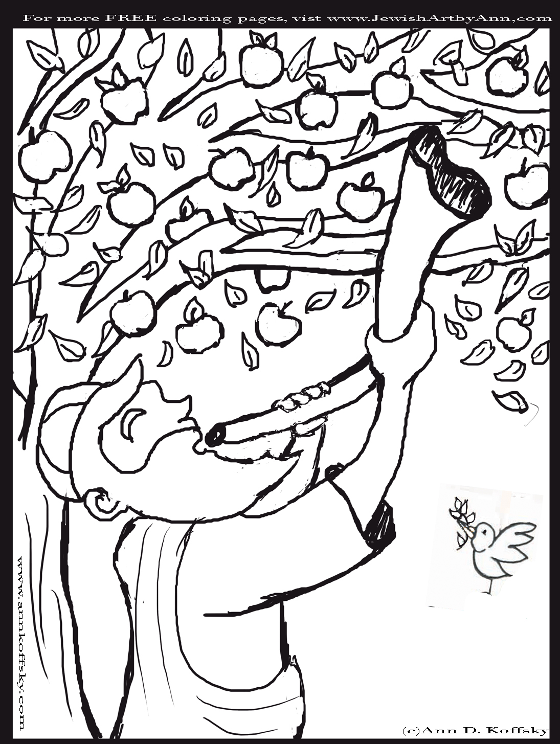 hebrew coloring pages - shofar coloring page