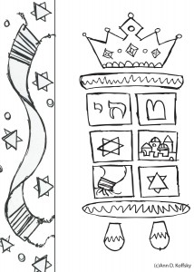 tu b shvat coloring pages - coloring pages torah tree