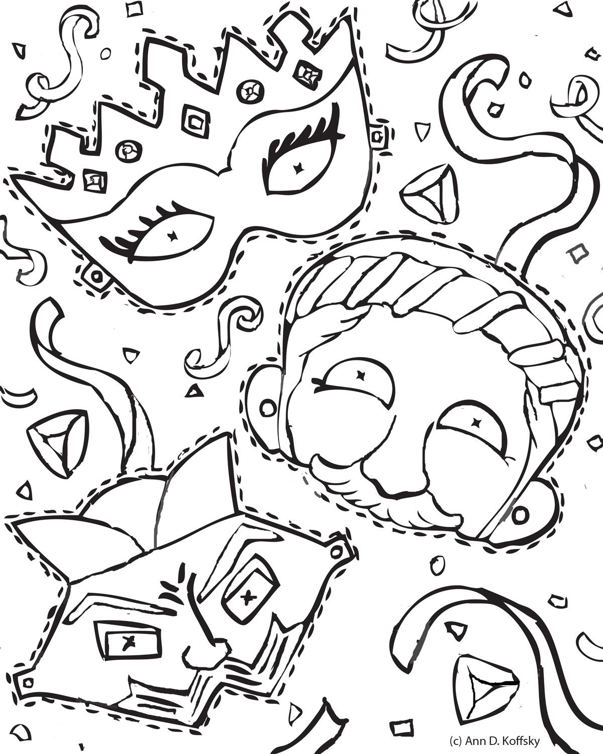 Purim Page Purim Coloring Pages