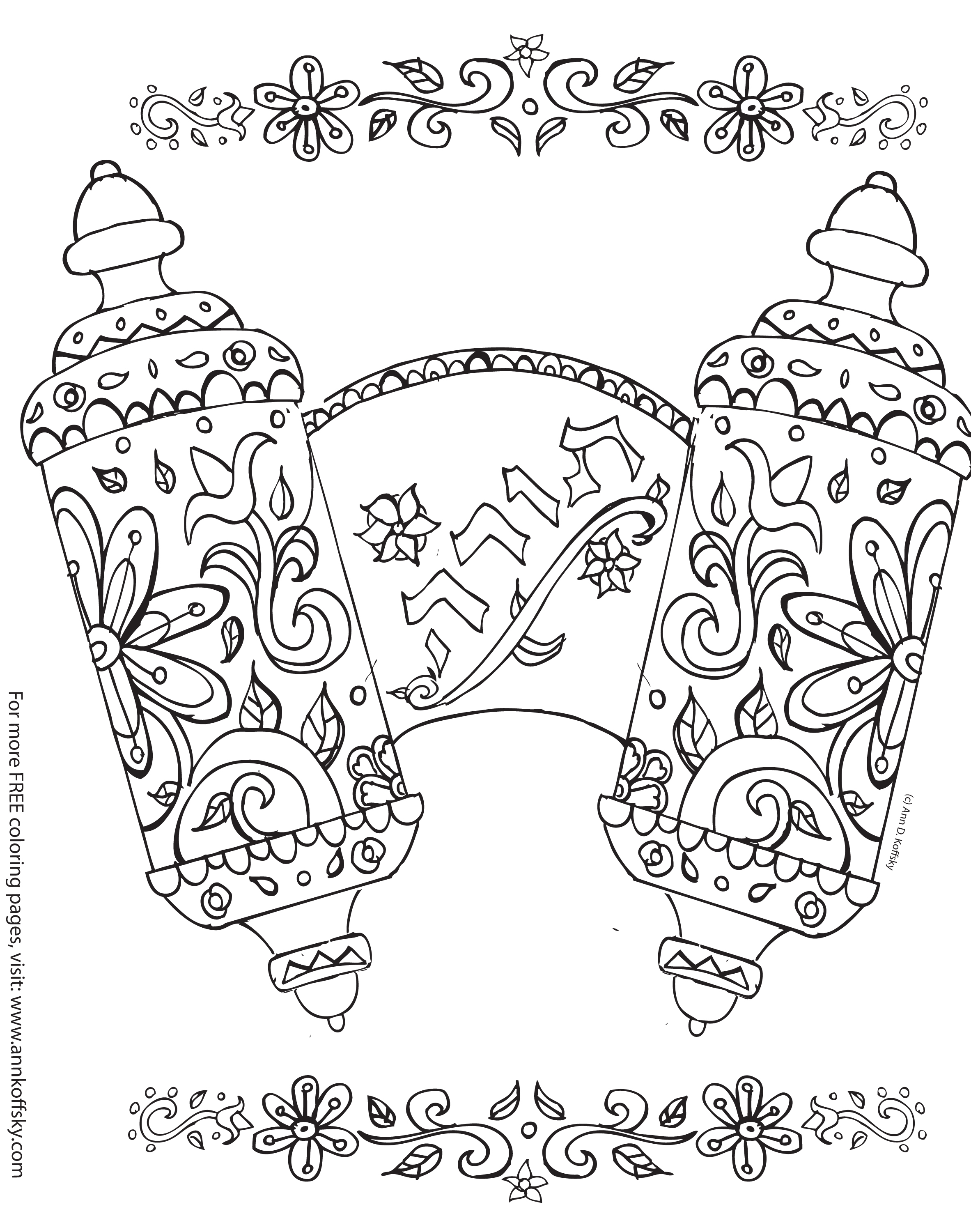 torah coloring pages shavuot coloring page