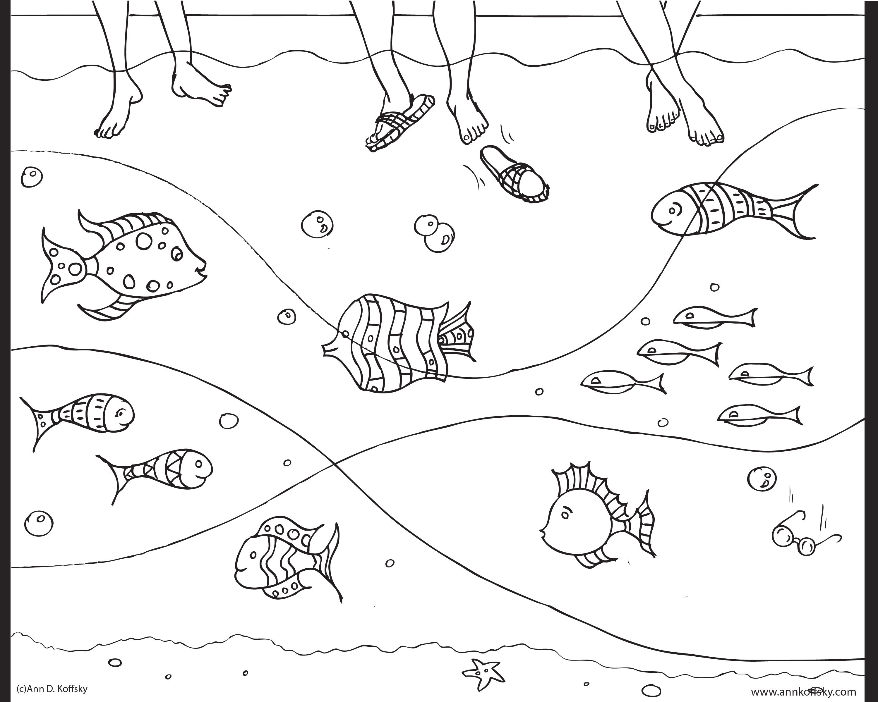new summer coloring page