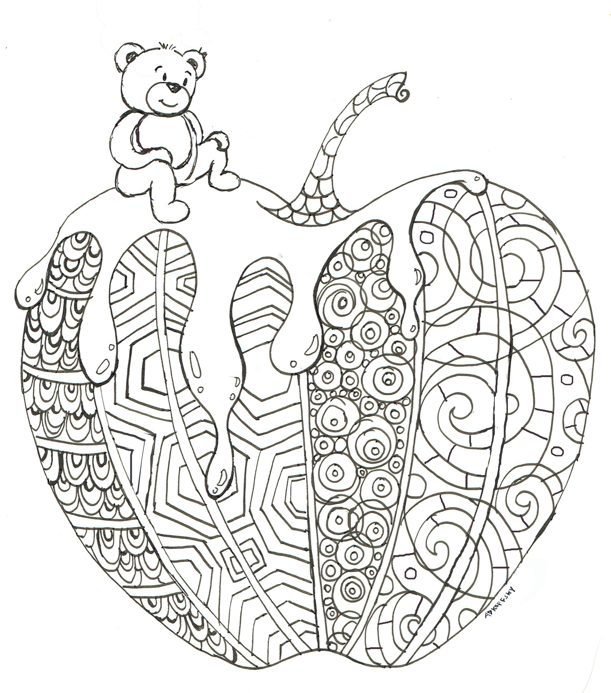 New coloring page for the New Year
