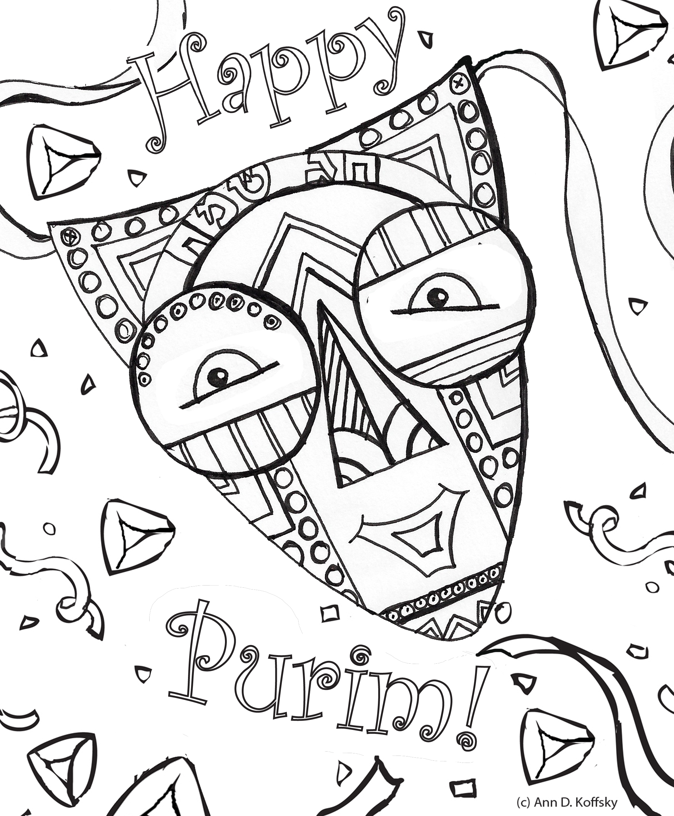 purim pages - Purim Coloring Pages