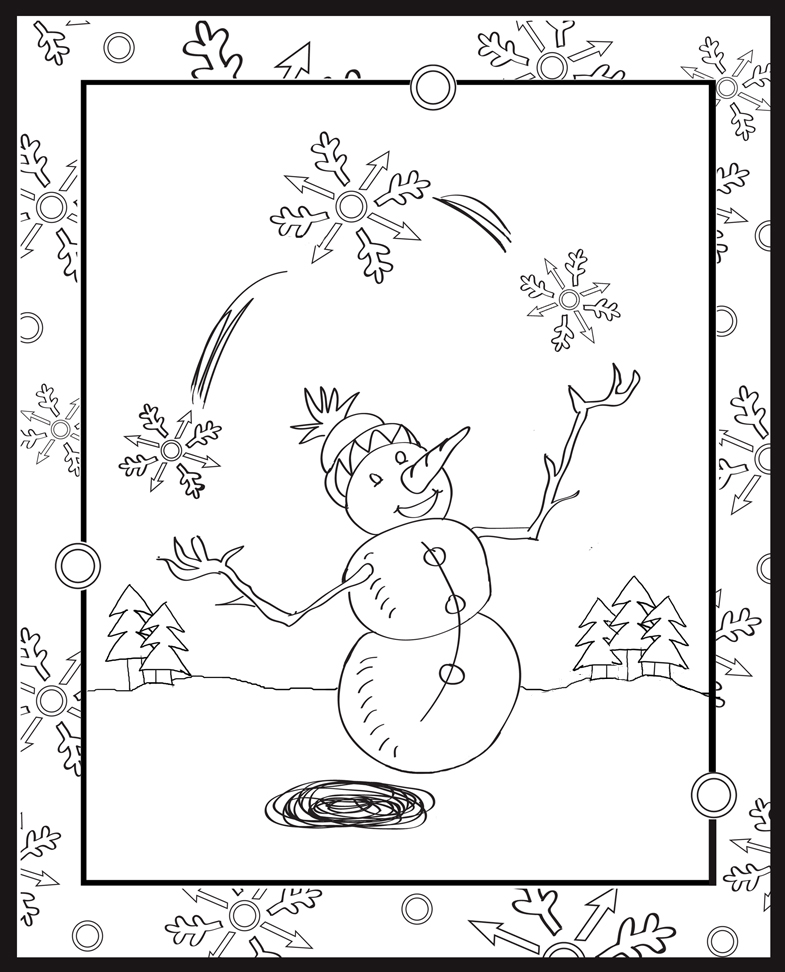 January Snowman Coloring Pages