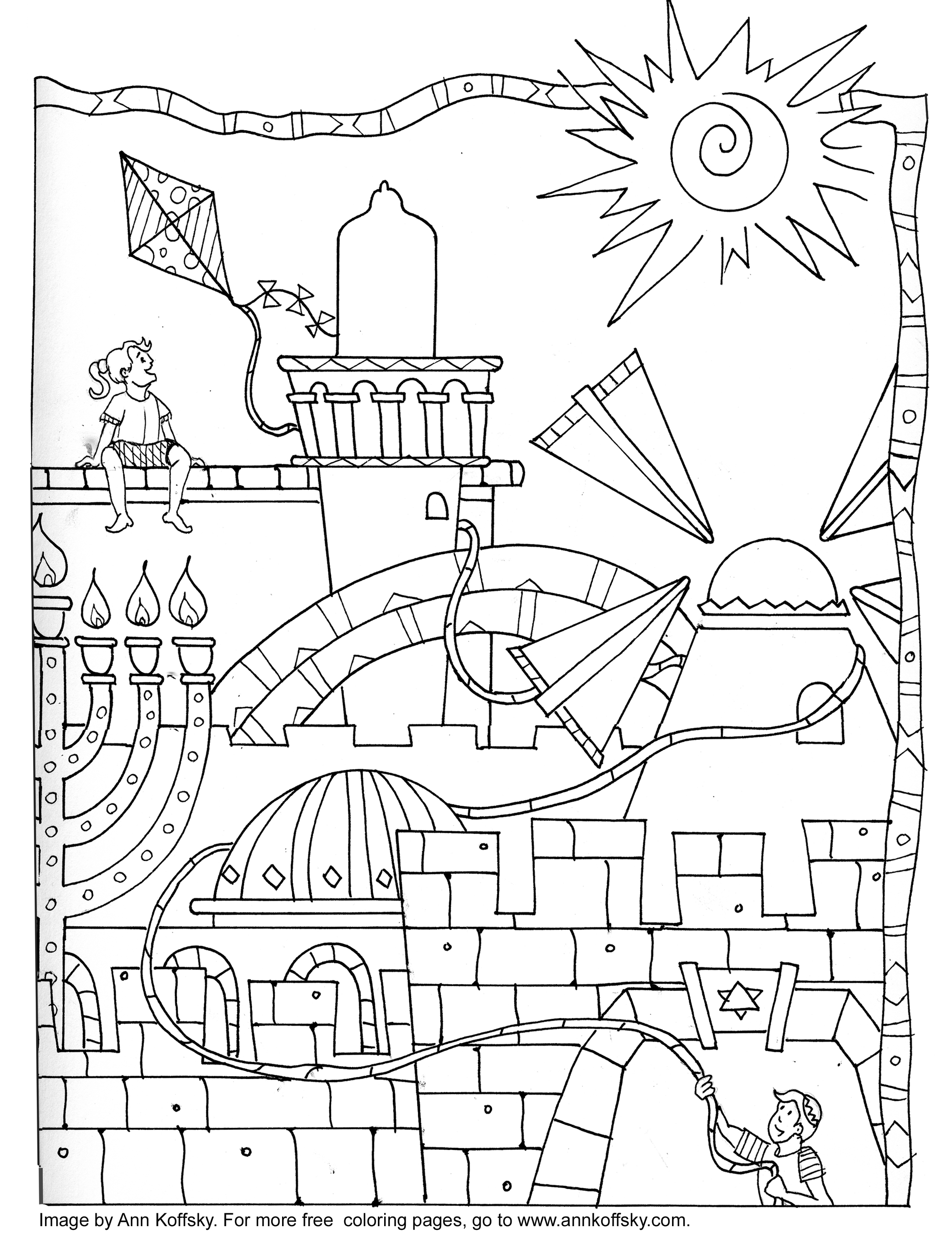 Hebrew School worksheets on Pinterest | Coloring Pages ...